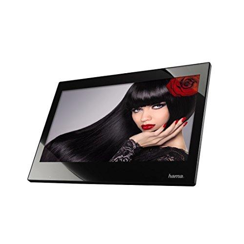 Hama Digitaler Bilderrahmen Slim mit Musik-/Video-Wiedergabe (33,8 cm (13,3 Zoll), Full HD, HDMI, USB, SD/SDHC/MMC-Kartenslot, MP3) mit Fernbedienung, schwarz