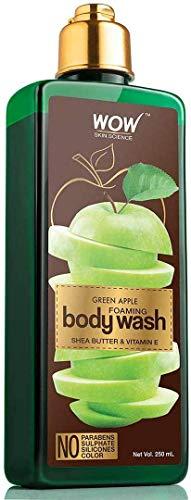 Glamorous Hub WOW Gel de baño espumoso de manzana verde sin parabenos, siliconas de sulfato y color, 250 ml (el embalaje puede variar)
