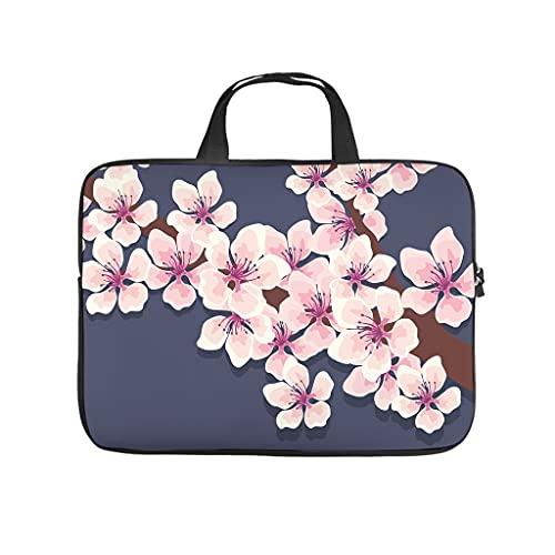 Japón cerezo flor ciruela Sakura flores portátil bolsa resistente al agua Notebook Sleeve funda a medida para el portátil universitario trabajo Business