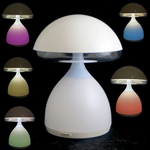 Vinciann Lampada Luce LED dimmerabile Notte Comodino Fungo Tavolo Lettura 7 Colori RGB