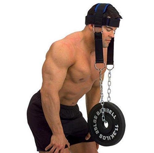 Grofitness Kopfgeschirr-Gürtel, Gewichthebergurte, Ketten-Set, Kinngürtel, Training, Fitness, Kraftausrüstung
