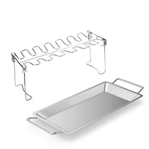 luosh Chicken Leg Wing Grillregal, BBQ Chicken Drumsticks Rack für Grill Smoker Oven Edelstahl Vertikal Röster Stand