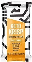 Keto Krisp, Protein Bar Almond Butter, 1.8 Ounce