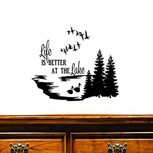 Black 16 x 24 Wall Art Size 16 Inches X 24 Inches Color Design with Vinyl US V JER 2600 2 Top Selling Decals Hooked On The Lake