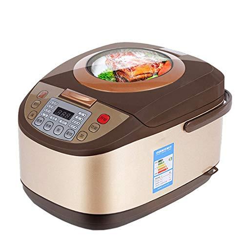 Rijstkoker, elektrische rijstkoker 5L Timing Reservation Eten Verwarming Pressure Cooking Steamer 2-8 Mensen Soup Stew Pot Cake