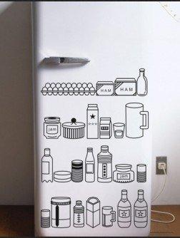 Vinilo decorativo pegatina pared, cristal, puerta (Varios colores a elegir)- para nevera cocina