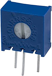 BOURNS 3386X-1-225LF Trimmer Potentiometer, 2.2 Mohm, 1 Turns, Through Hole, Trimpot 3386 Series, 500 mW, ¡À 10%