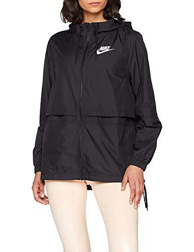 Nike Damen Sportswear Woven Jacke, Mehrfarbig (Black/Black/Black/White), S