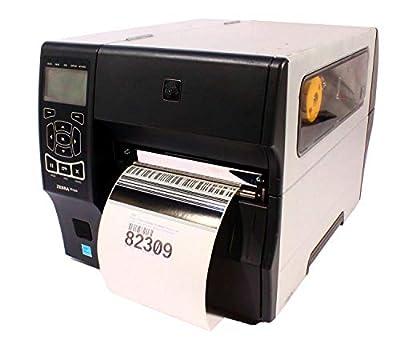 """Zebra Technologies ZT42062-T01A000Z Series ZT420 Direct Thermal/Thermal Transfer Industrial Printer, 203 DPI, 6"""" Max Print Width, Tear Bar, USB/Serial/10/100 Ethernet/BT 2.1, USB Host, EZPL, Wi-Fi"""