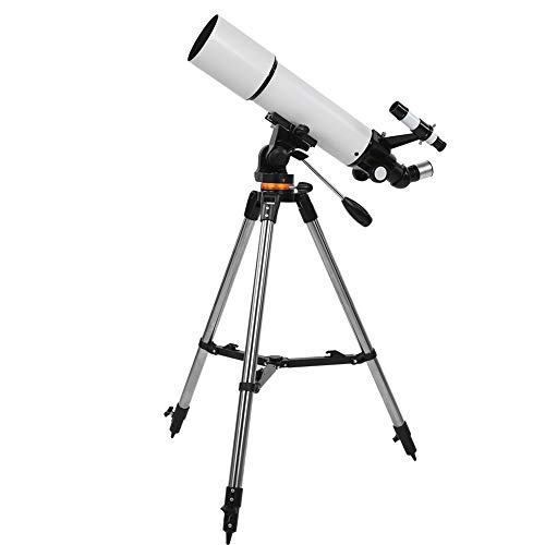 Telescope, 80mm Aperture 500mm Focal Length High Definition Astronomical Refracting Telescope with Adjustable Tripod, Professional Starry Sky Telescope for Kids Beginners Adults