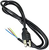 Longdex Power Cord 4.9ft 250V 10A 16AWG 3 Prong Power Cord Cable US Plug Replacement Cord for Range...