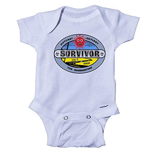 Ink Trendz Survivor Outcast, Outlast The Quarantine 2020 Baby Onesie Bodysuit (3-6 Months) White