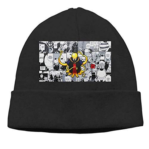 Lawenp Hombres Mujeres Skull Cap Assassination Classroom Koro Sensei Beanie Sombreros para...