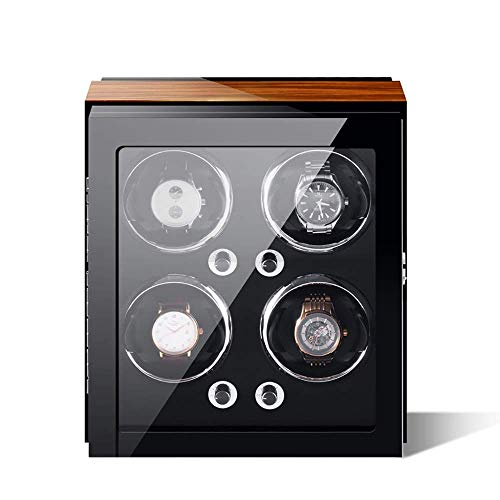 Watch Winder, Can Accommodate 1, 2, 3, 4, 6, 9 Watches, Imported Self-winding Watch Boxes, Soft And Flexible Table Pillows, Imported Motors, Built-in LED Lights For Lady and Man Watches (Size : 4)