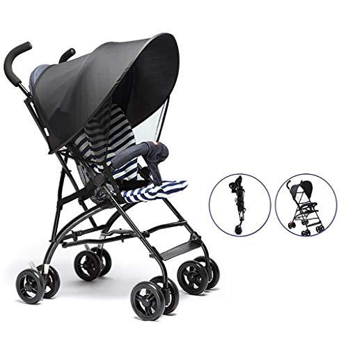 LWJJHJ Baby kinderwagens, Lichtgewicht Urban wandelwagen vanaf de geboorte, Reissysteem met Uitschuifbare luifel