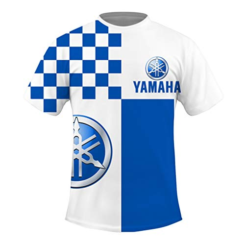 Cronell Story Haut à Manches Courtes pour Hommes à Col Rond D'été 3D Numérique Yamaha Logo T-Shirt Imprimé Haut à Séchage Rapide Décontracté (1,XXL)