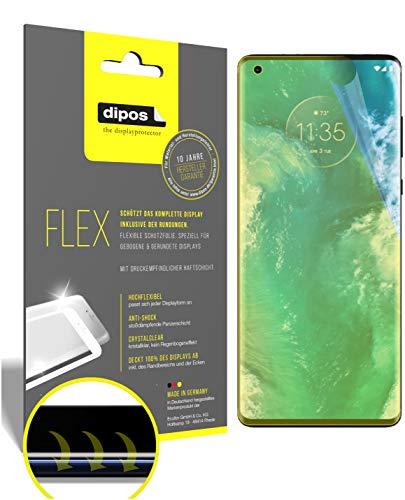 dipos I 2X Schutzfolie 100prozent kompatibel mit Motorola Edge Plus Folie I Full Cover 3D Bildschirmschutz-Folie