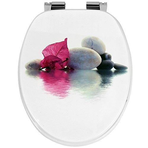 Deuba WC Toilettendeckel doppelte Absenkautomatik stabile ABS-Schaniere inkl. Montagematerial Toilettensitz Klodeckel