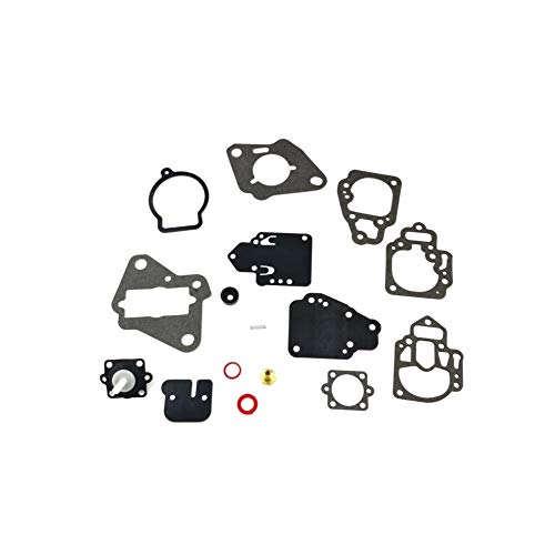 18-7212 Carburetor Rebuild Kit with Gasket for Many Mercury Mariner Outboards 6 8 9.9 10 15 20 25 HP 2cyl Boat Motor Parts Replacement 1395-97611 1395-9803 1395-9725 1395-9645 1395-811357 1395-9377