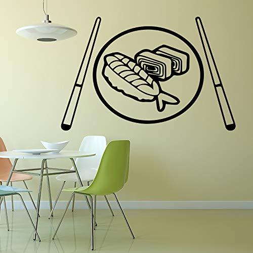 BailongXiao Japanische wandaufkleber Restaurant Wohnzimmer Dekoration wandaufkleber abnehmbare Vinyl wanddekoration XL 58 cm X 89 cm