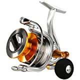 SeaKnight Rapid II Saltwater Spinning Reel, 4.7:1,6.2:1 High Speed, Max Drag 22Lbs, Smooth Fresh and Saltwater Fishing Reel