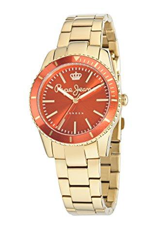 Pepe Jeans Reloj analogico para Mujer de Cuarzo con Correa en Acero Inoxidable R2353102510