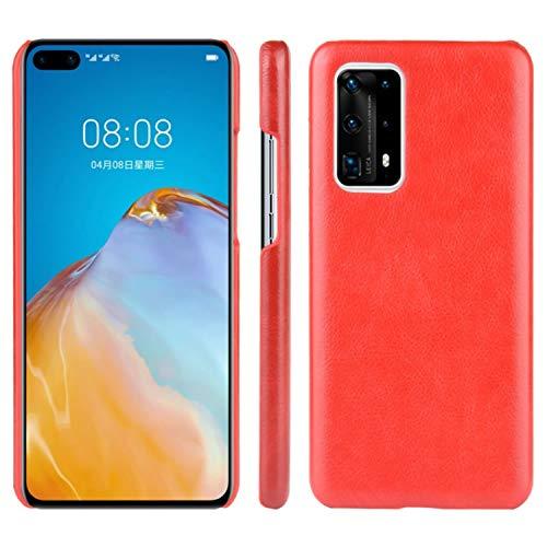 HualuBro Handyhülle für Huawei P40 Pro Plus Hülle, Retro PU Leder Ultra Slim Stoßfest Schutzhülle Lederhülle Back Bumper Hülle Cover für Huawei P40 Pro+ Plus 5G Tasche (Rot)