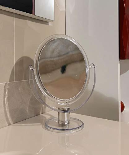 Miroir grossissant et non pour bain de soutien, structure résine transparent