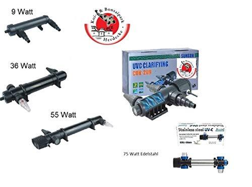 Jebao Clarificateur d'eau UVC 9 W pour aquariums et bassins