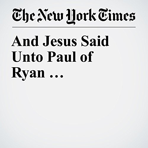 And Jesus Said Unto Paul of Ryan … copertina