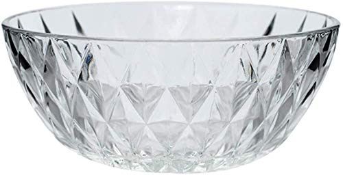XUEXIU Porcelana Premium Ensalada Hogar Crystal Glass Bowl 1 Pack Europea Linda Transparente Postre Tazón De Varios Tamaños Opcional Sopa Vajilla Tazón Regalo for Catering and Home