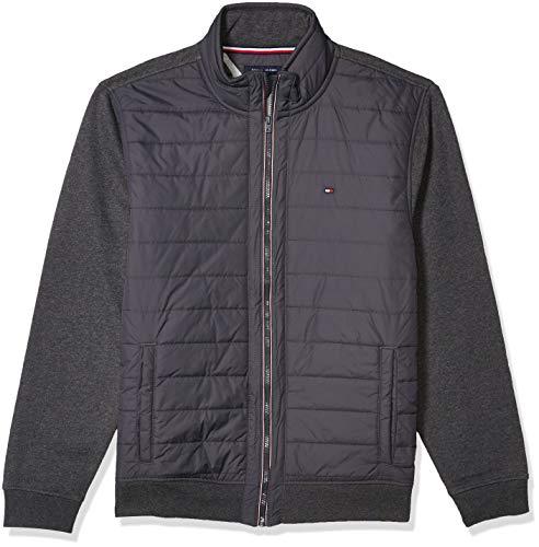 Tommy Hilfiger Men's Big & Tall Full Zip Mock Neck Sweater
