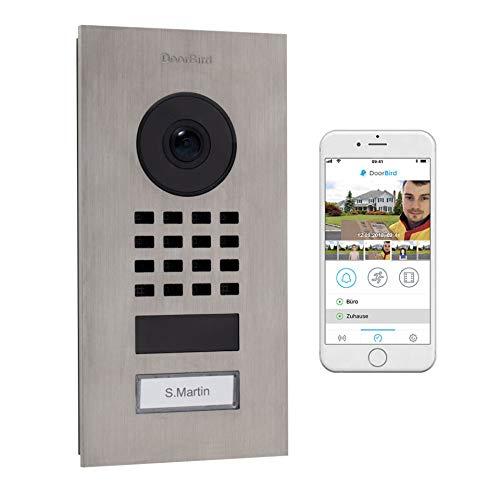 DoorBird 423866782 IP-Video-Türsprechanlage WLAN Komplett-Set 1 Familienhaus Silber (gebürstet)