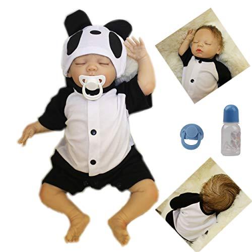 AIBAOLIAN Muñeca Bebé Reborn 20 Pulgadas 50cm Silicona Suave Vinilo Reales Bebes Reborn Niño Realista Recién Nacido Boca Magnética Juguetes de los niños