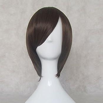 Ouran High School Host Club Haruhi Fujioka Brown Mix Short Cosplay Wig + Free Wig Cap