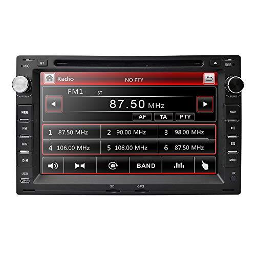 7 Zoll Kapazitiven Touchscreen Doppel Din Autoradio Auto DVD Player mit Spiegel-link Bluetooth Lenkradsteuerung Radio RDS für VW Volkswagen/Seat/Skoda/Polo/Golf
