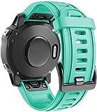 Classicase Correa de Reloj Compatible con Garmin Fenix 6S Pro/Fenix 6S / Fenix 5S/5S Plus (42MM), Impermeable Reemplazo Correas Reloj Silicona Banda (Pattern 3)