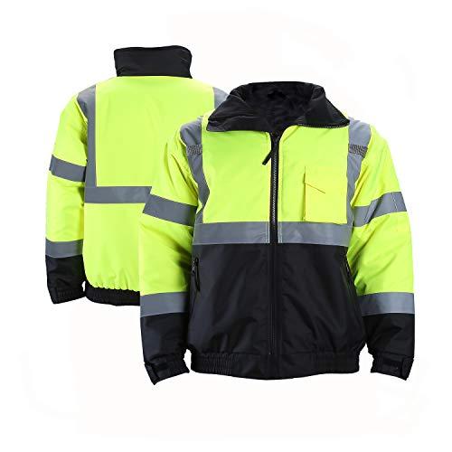 FONIRRA Hi-Viz Safety Jacket for Men with Reflective Liner ANSI Class...