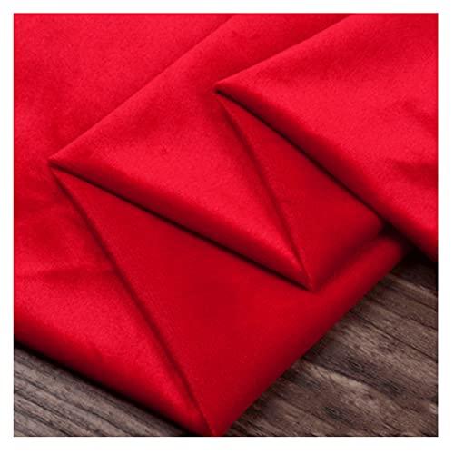 La Tela de Terciopelo de Terciopelo Dorado se Utiliza para Cortinas de sofá y Almohadas. Vestimenta Artesanal. 153 cm de Ancho por Metro(Size:100x153cm,Color:Gran Rojo)