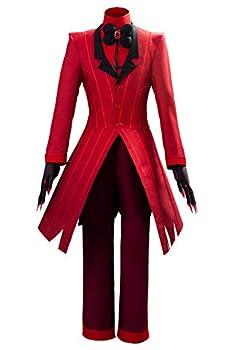 Hazbin Hotel Alastor Cosplay Costume Jacket Outfits Set with Coat,Shirt,Pants and Glove  Large Alastor