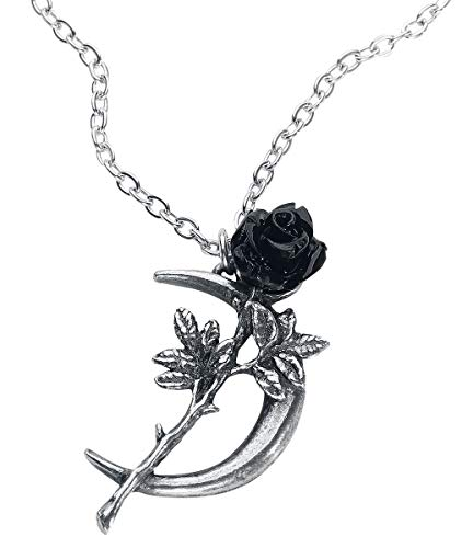 Alchemy Gothic New Romance Frauen Halskette silberfarben Hartzinn Gothic