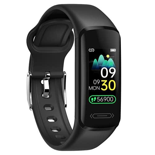 Orologio Fitness Tracker, Smartwatch Uomo Donna, Fitness Watch Impermeabile IP68 Cardiofrequenzimetro, Orologio Fitness con Pedometro Cronometro Calorie Sonno Notifiche Messaggi, Regalo per Uomo Donna