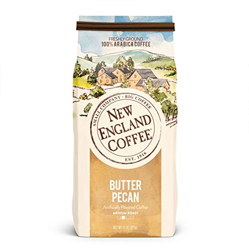 New England Coffee, Butter Pecan, 11 Ounce (1 Count)