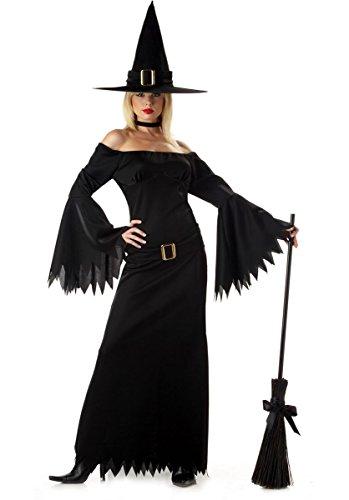 Disfraz de Bruja Tradicional Elegante - Mujer Talla Única ...