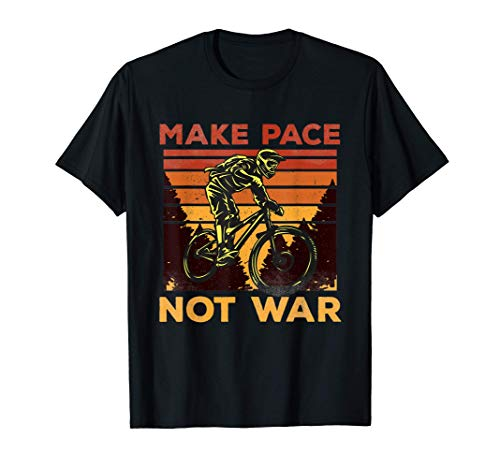 Funny MTB Mountainbike Vintage Downhill - Make Pace Not War Camiseta