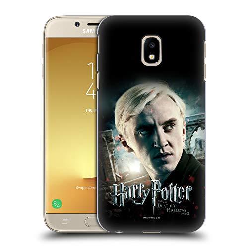 Head Case Designs Ufficiale Harry Potter Draco Malfoy Deathly Hallows VIII Cover Dura per Parte Posteriore Compatibile con Samsung Galaxy J3 (2017)