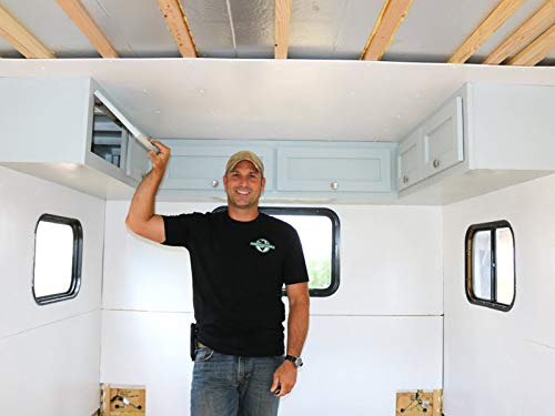 How To Build A Do It Yourself Travel Trailer Interior Cabinets Part 4