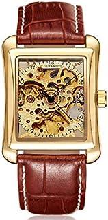 اوياوي ساعة رسمية رجال انالوج بعقارب جلد - C1189