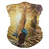 Fascia per capelli Ocean Sea Animal Mermaid Ship Face Protezione solare Maschera Collo Ghetta Magica Sciarpa Bandana Copricapo Passamontagna per donne e uomini