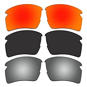 ACOMPATIBLE 3 Pair Replacement Polarized Lenses for Oakley Flak 2.0 XL Sunglasses Pack P1